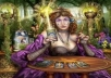 Do a past life reading.. Up to 5 lives. 3 cards for each past life.